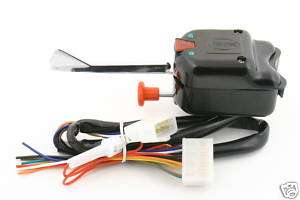 GOLF CART TURN SIGNAL SWITCH BLACK 8 WIRE
