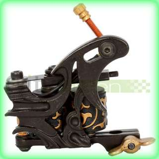 New Cast 10 Laps Coils Tattoo Machine Liner Shader Gun Black