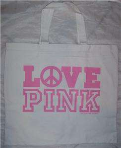Victorias Secret LOVE PINK Tote Bag NWT GO GREEN