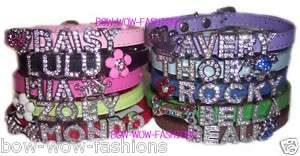 Rhinestone Dog Puppy Cat Collar FREE NAME & SHIPPING