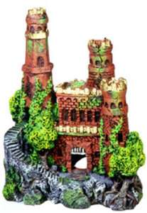 BLUE RIBBON MEDIEVAL CASTLE MINI AQUARIUM DECORATION