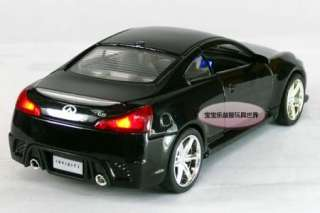 New Infiniti G37 132 Alloy Diecast Model Car With Sound&Light Black