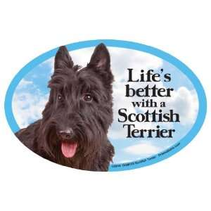 Scottish Terrier Oval Dog Magnet for Cars