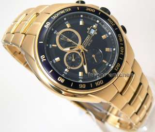 CITIZEN MEN CHRONOGRAPH TACHY GOLD TONE 100m AN4012 51E
