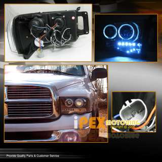 SUPER BRIGHT* 02 05 Dodge RAM SMD LED Bulb DRL w/HALO Projector