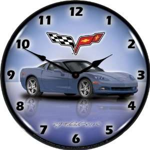 GMRE1112349 Supersonic Blue 14 Corvette C6 Lighted Clock Automotive