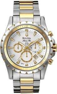 Bulova Mens 98B014 Marine Star Chronograph Two tone Watch