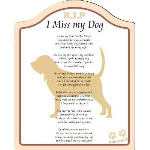 Back (poem for bereavement, missing my dog, memorial for dog, Plaque