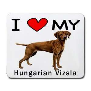 I Love My Hungarian Vizsla Dog Mouse Pad