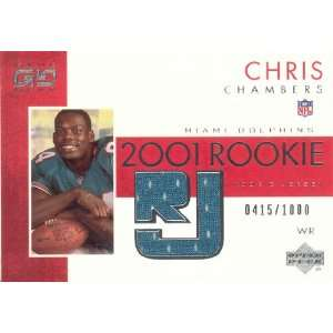 Chris Chambers 2001 Upper Deck Game Gear ROOKIE Jersey Card #95