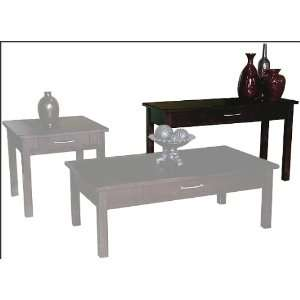 Distressed Espresso Sofa Table SU 3122E S