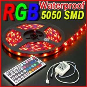 New Waterproof 5 Meter or 16 Feet RGB 5050 SMD LED Strip