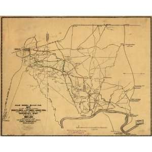 Civil War Map Map of the territory between Corinth, Miss