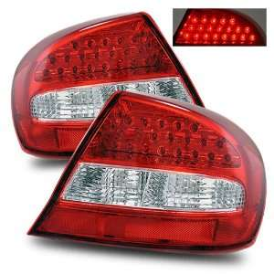 03 05 Chrysler Sebring Coupe Red/Clear LED Tail Lights Automotive
