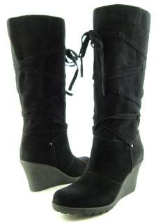 AQUA DEBBIE Black Suede Womens Shoes Boots 8 EUR 38