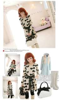 Japan new style fashion cute bow print lace dress