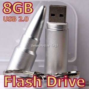 New 8GB Cool Silver Bullet Memory Stick USB Flash Drive