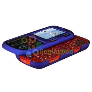 For LG Cosmos VN250 4in1 Dark Purple+Red+Blue+Black Rubber Hard Phone