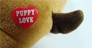 Vintage Plush Stuffed Puppy Love Toy Dog, 6 Long Very Cute Very Good