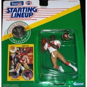 1991 NFL Starting Lineup JERRY RICE San Francisco 49ers