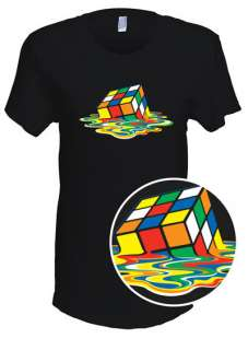 Melting Rubiks Cube T Shirt  As seen on The Big Bang Theory