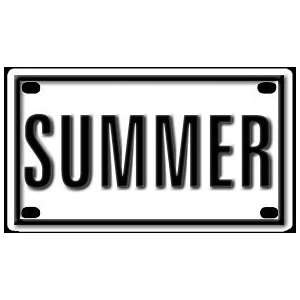 Summer 2 1/4 X 4 Aluminum Die cut Sign Arts, Crafts