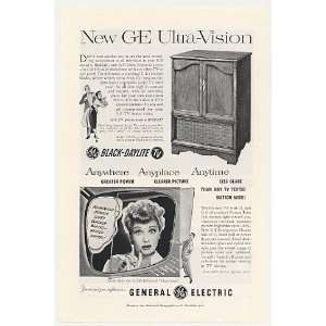 Lucy Lucille Ball GE Ultra Vision 21C206 TV Print Ad