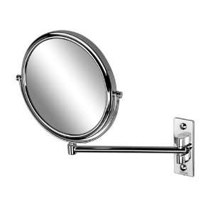 Geesa 1085 Chrome Round Wall Mounted Double Face 3x Magnifying Mirror
