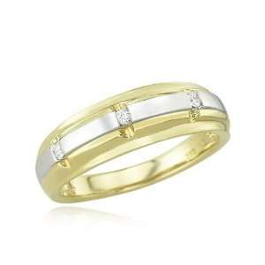 14K Two Tone Gold Womens Wedding Diamond Ring Diamond quality AA (I1