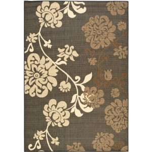 Natural Indoor/Outdoor Square Area Rug, 6 Feet 7 Inch