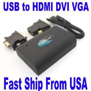 USB 2.0 to HDMI DVI VGA DISPLAYLINK ADAPTER 1080P
