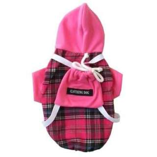 Pink dog hoodie clothes shirt costumes fancy pet M