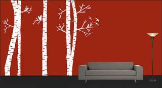 Birch Tree Forest Wall Art Decal Sticker Vinyl Mural