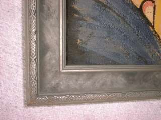 An Early American Framed Painting on Velvet Cloth