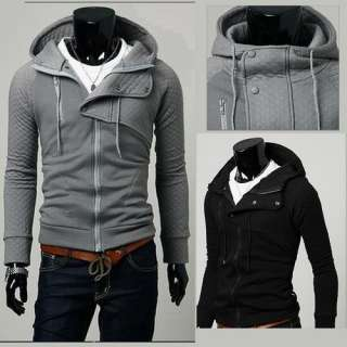2012 New Mens Slim Fit Sexy Top Designed Hoodies Jackets Coats 1401