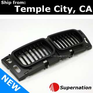 BMW E34 M5 Black Bumper Front Center Grille Hood Pair Gill Set OEM