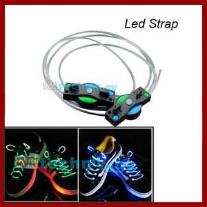Hot 3 Mode Ultra Bright LED Luminescent Light Up Shoe laces Flash Glow