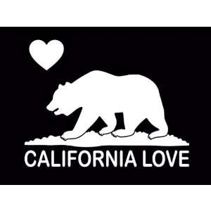 California Love State Bear Vinyl Decal Sticker CUSTOM