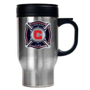 Chicago Fire 16oz Stainless Steel Travel Mug  Sports
