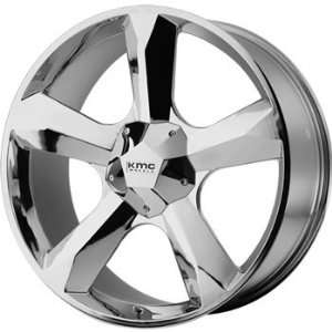 KMC KM674 22x9.5 Chrome Wheel / Rim 5x5 & 5x5.5 with a 15mm Offset and