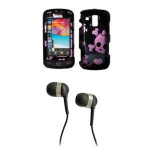 Samsung Rogue U960 Premium Black and Pink Bow Skull Snap