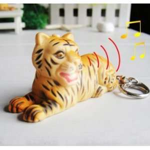 Led Tiger Sound Keychain Light Toys & Games