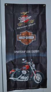 Harley Davidson 1200 Red Flag Banner New in Package