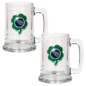 NFL Tennessee Titans St. Patricks Day 2pc Glass Tankard