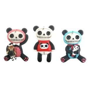 6 Pandie the Panda Bear Magnets (H 2 ~ 2.25 & 0.63 lbs