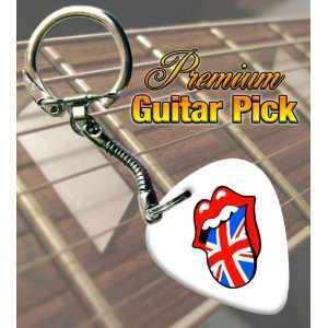 Rolling Stones UK Lips Premium Guitar Pick Keyring