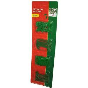 Club Pack Of 300 Green Christmas Ornament Hooks 2.5 & 1