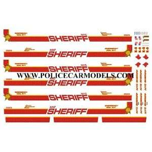 BILL BOZO NEW YORK CITY NYC SHERIFF (OLD) DECALS
