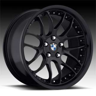 18 MRR GT7 Matte Black RIMS WHEELS BMW 325 328 330 335