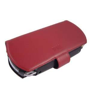 Black/red Leather Psp Case Electronics